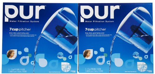 Pur 7 Cup Water Filtration Pitcher with Filter, -2 pk (Pur Water Filter Water Bottle compare prices)