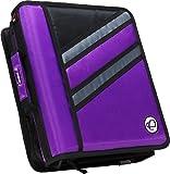 Case-it Z-Binder Two-in-One 1.5-Inch D-Ring Zipper Binder, Purple, Z-176-PUR