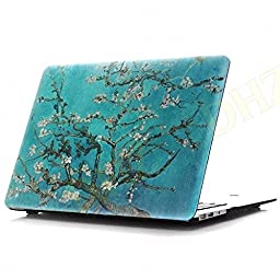 DHZ MacBook Pro 13 Retina Case - Plum Blossom Ultra Slim Plastic Hard Cover For Apple MacBook Pro 13.3\