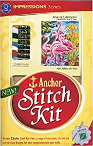 Anchor Stitch Kit Pink Flamingoes