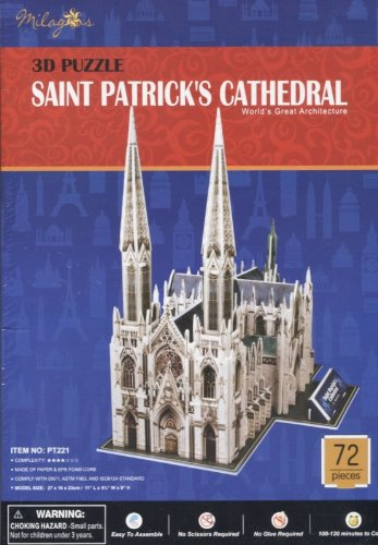 The Cathedral of Saint St Patrick 72 Piece 3-D Puzzle