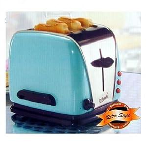toaster 3 scheiben 3 schlitz edelstahl retro 1200w gr n. Black Bedroom Furniture Sets. Home Design Ideas