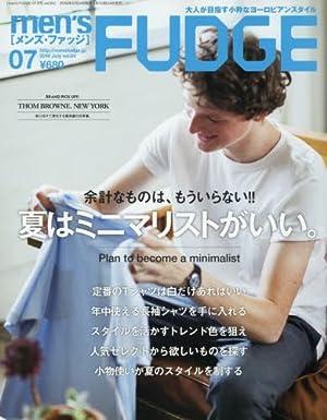 men\\\'s FUDGE(メンズファッジ) 2016年 07 月号 [雑誌]