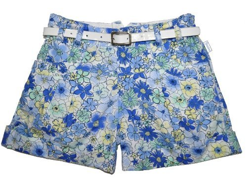 Girl's woven short pants with belt