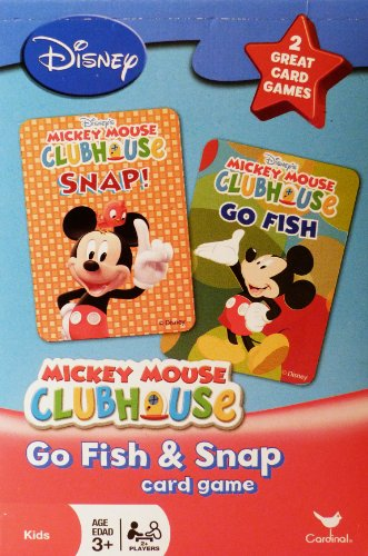 Disney Mickey Mouse Clubhouse Go Fish and Snap Card Games by Cardinal - 1