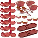 Cutting EDGE SUPER COMBO Air Tight Storage Containers + Dinner Set 67 Pc Set