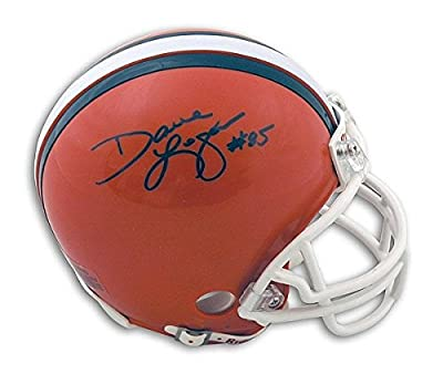 Dave Logan Cleveland Browns Autographed Mini Helmet - Authentic Signed Autograph