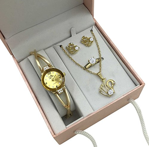 Gold Swan Watch U0026 Jewelry Gift Set For Her Apparel Accessories Sets