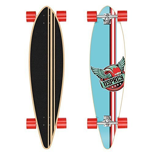 osprey-longboard-griffin-pin-tail-40-inch-1016cm-inkl-abec-9-chromkugellager-farbe-blau-rot-weiss