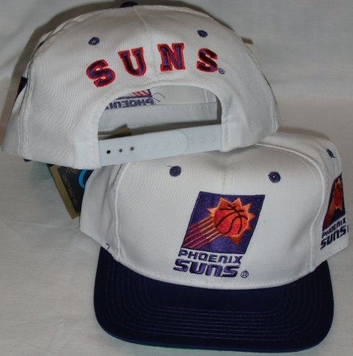 Phoenix Suns White/Purple Two Tone Snapback Adjustable Plastic Snap Back Hat / Cap