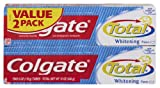 Colgate Total Whitening Toothpaste Twin Pack, 12-Ounce