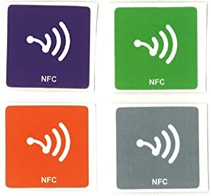 4x NFC Tags NTAG203 [de20] als 4xAufkleber - kompatibel mit allen gängigen NFC fähigen Smartphones - besonders auch für LG Nexus 4, sowie allen Windows Phones (Nokia Lumia 920) und NFC fähigen Blackberry Geräten - - Ace 2, Amaze 4G, BlackBerry, Bold 9900, Bold 9930, Bold 9950, Curve 9360, Curve 9370, Curve 9380, Desire C, Droid Incredible 4G LTE, Elite, Evo 4G LTE, Galaxy Nexus, Galaxy Note, Galaxy S Blaze, Galaxy S II, Galaxy S3, Google, Google Nexus S, HTC, Incredible S, LG, Mini 2, Nexus 7, Nokia, Nokia 600, Nokia 603, Nokia 700, Nokia 701, Nokia 801T, Nokia 808 PureView, Nokia C7 , Nokia Lumia 610 NFC, Nokia N9, Nokia Oro, One X, Optimus 3D Max, Optimus 4X HD, Optimus L5, Optimus L7, Optimus LTE, Optimus LTE Tag, Optimus Net, Optimus Vu, Orange, S Advance, Samsung, San Diego, Sony, T530 Ego, Tocco Quick Tap, Viper, Wave 578, Wave M, Wave Y, Xperia Ion, Xperia P, Xperia S, Xperia Sola.
