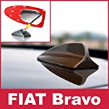 White Car Styling New Design Special with Blank Radio Shark Fin Antenna Signal External Extend Sticker FIAT Bravo Viaggio Linea Sedici Siena 124 125 500 695 OT2000