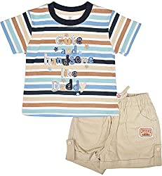 Toffy House Baby Boys' T-Shirt With Trousers Set (110_24-36month, Multi-Coloured, 24-36month)