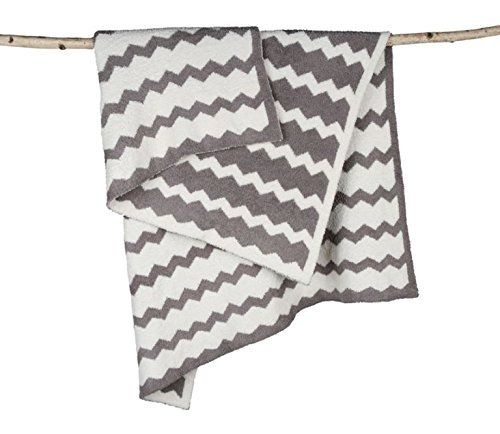 "Barefoot Dreams Big Kids Throw, 35"" x 45"" Chevron"