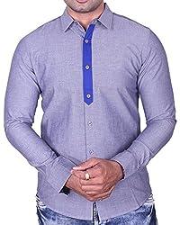 Equipoise Men's Cotton Casual Shirt (EQ-09 L/42_Grey_L)