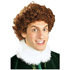 Elf Buddy The Elf Wig, Brown, One Size