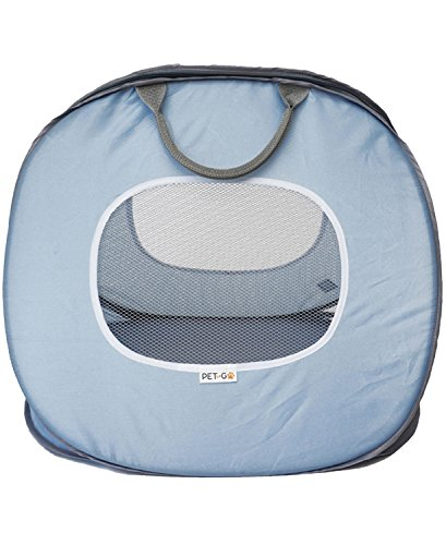 PET-TOGO Ultra-Light Pet Carrier, Soft Sided And Foldable Travel Carrier With Front And Top Openings, For Cats And Small Dogs, Blue And White, Large Size