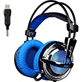 GW SADES AW30 Wired USB Stereo Gaming Headset Over-Ear Headphones With Mic Vibration Volume Control LED Lights...