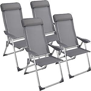 Chaise camping pliante avec coussin aluminium meuble Chaise pliante aluminium