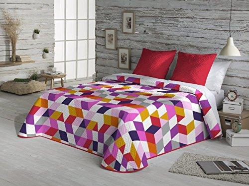 Fundeco - Colcha Bouti NERIN - cama de 105 cm. Color Unico