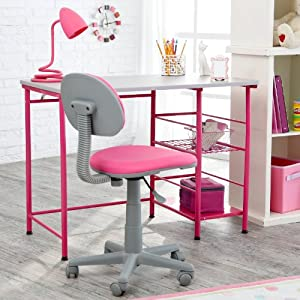 Amazon.com: Study Zone II Desk & Chair - Pink: Home & Kitchen