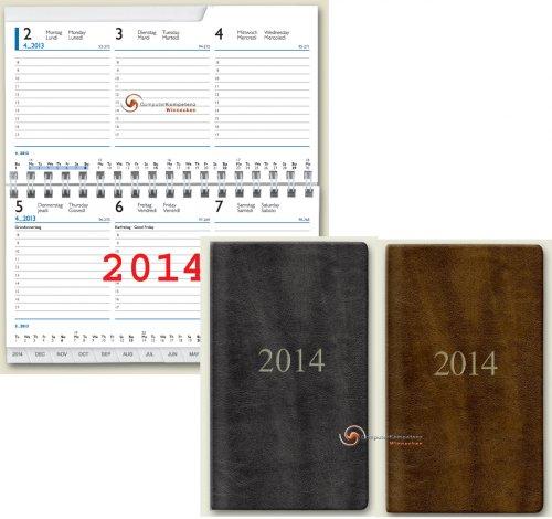 Brunnen Taschenkalender 2014 Senegal A6 9x15cm 10-75532 Kalender 2014 QUERFORMAT