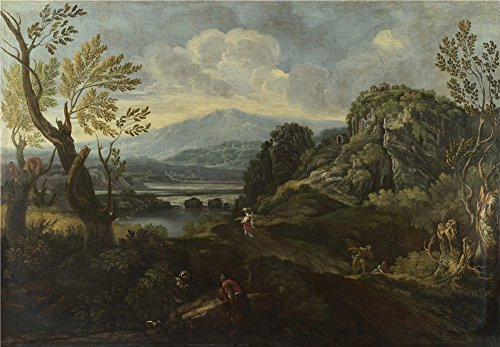 the-polyster-canvas-of-oil-painting-crescenzio-onofri-landscape-with-figures-size-16-x-23-inch-41-x-