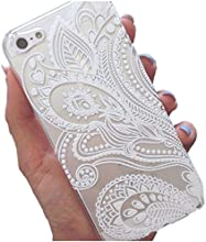 Roodfox Fashion Henna White Floral Flower Plastic Case Cover Skin for iPhone 5 5S