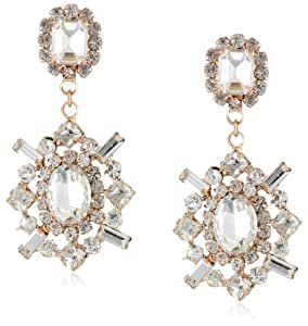 Panacea Crystal and Gold Earrings