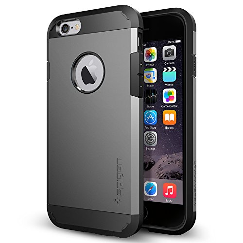 iPhone 6 Case, Spigen® [Tough Armor] Heavy Duty [Gunmetal] Dual Layer EXTREME Protection Cover Heavy Duty Case for iPhone 6 (2014) - Gunmetal (SGP11022)