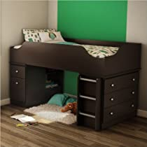 Hot Sale South Shore Tree House Collection Loft Bed, Twin, Chocolate