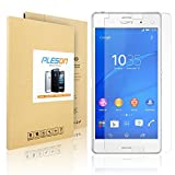 PLESONTECH® 2.5D Round Edge 0.26mm Ultra Slim Nano Tempered Glass Screen Protector for Sony Xperia Z3 with Perfect Anti-scratch/Shatterproof/Fingerprint & water & oil resistant- Protect Your Screen from Scratches and Drops (Sony Xperia Z3)