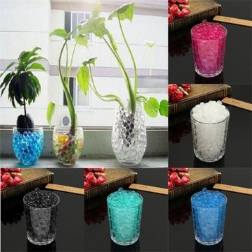 Water Plant Flower Crystal Soil Mud Pearls Gel Beads Jelly Ball Wedding Decor^. (Giant Jelly Fish compare prices)