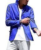 (ジョーカーセレクト(JOKER Select) テーラードジャケット 綿 麻 イタリアンカラー M ブルー(80)