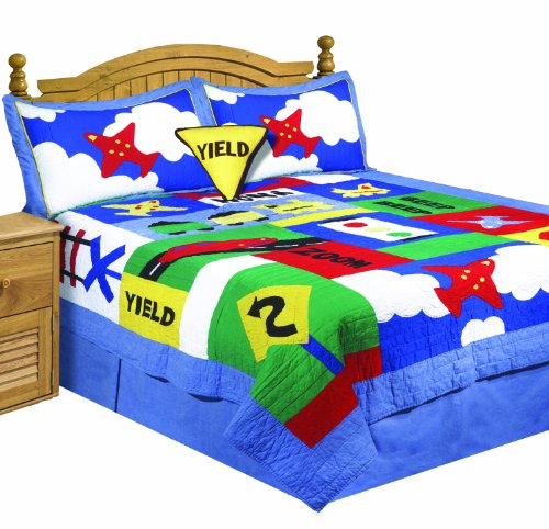 ZZ Kids Cross Roads 4-Piece Twin Quilt Set