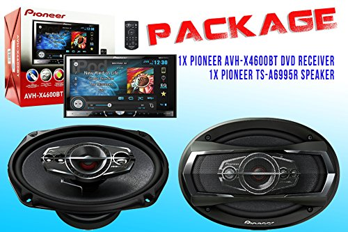Package ! Pioneer Avh-X4600Bt Dvd Receiver + Pioneer Ts-A6965R Car Speakers