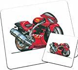 Personalised Koolart Honda SP1 VTR Motorbike Wood Table Mat Set