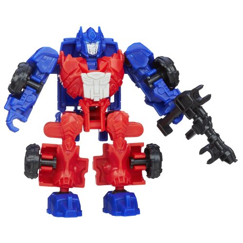 Transformers Age of Extinction Construct-Bots Dinobot Riders Optimus Prime Buildable Figure - 1
