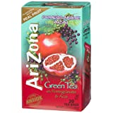 AriZona Green Tea with Pomegranate and Acai, 20 Count Tea Bags, 1.37 Ounce Boxes (Pack of 6) ~ AriZona