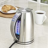 Cuisinart PerfecTemp 7 Cup Capacity Stainless Steel Cordless Electric Kettle