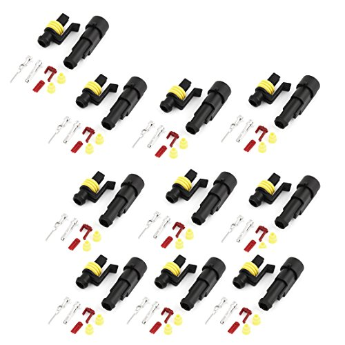 Wire Connector Plug In Type Sealed Waterproof Electrical Car 10 Set