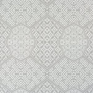 Honeycomb Mandala Pattern Wallpaper, Cool Grey R1890