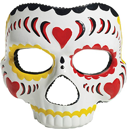 Day Of The Dead Female Skeleton Gothic Latex Adult Halloween Costume Mask