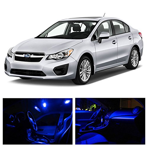 Ledpartsnow Subaru Impreza 2004-2015 Blue Premium Led Interior Lights Package Kit (6 Pieces)