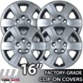 2006-2007 Hyundai Sonata 16 Inch Silver Metallic Clip-On Hubcap Covers