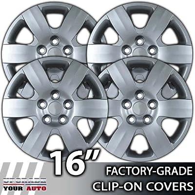 2006-2007 Hyundai Sonata 16 Inch Silver Metallic Clip-On Hubcap Covers