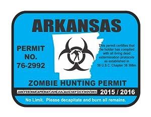 Arkansas state zombie hunting permit license for Arkansas fishing license