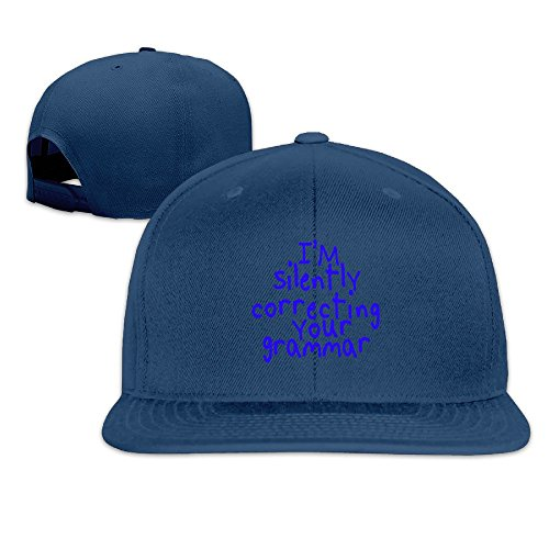 LINNA Custom Unisex I'm Silently Correcting Your Grammar Casual Baseball Hats Navy (Nike Shoes Ninja Turtles compare prices)