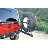 Rampage 76610 Semi-Gloss Black Rear Recovery Bumper with Swing Away Tire Mount